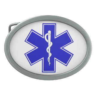 Star of Life Oval Belt Buckle