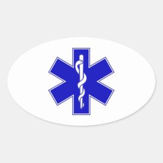 Star of Life Oval Sticker