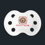 "STAR of LIFE Pacifier<br><div class=""desc"">INSTANT QUIET- BABY MUTE BUTTONS from the SARGES GIFT SHOP Pacifiers are the latest in baby fashion. Add a favorite phrase, baby name, or photo in full color to any pacifier. It&#39;s a fun way to make sure your baby stands out in the crowd. Comes in 0-6 month size and...</div>"