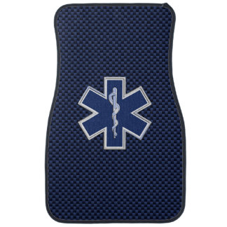 Star of Life Paramedic Emergency Medical S Decor Car Mat