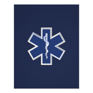 "Star of Life Paramedic Emergency Medical Services 8.5"" X 11"" Flyer"