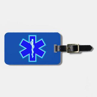 Star of Life Paramedic Emergency Medical Services Bag Tag
