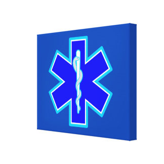 Star of Life Paramedic Emergency Medical Services Canvas Print