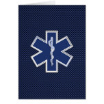 Star of Life Paramedic Emergency Medical Services Greeting Card