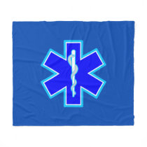 Star of Life Paramedic Emergency Medical Services Fleece Blanket