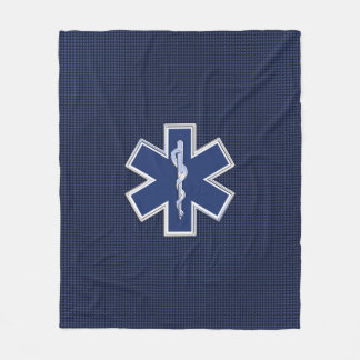 Star of Life Paramedic Emergency Medical Services Fleece Blanket