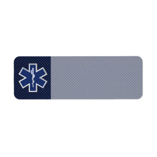 Star of Life Paramedic Emergency Medical Services Label