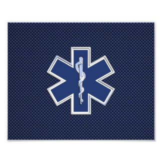 Star of Life Paramedic Emergency Medical Services Photo Print