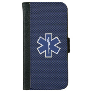 Star of Life Paramedic Emergency Medical Services iPhone 6 Wallet Case