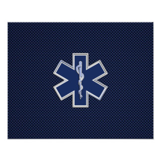 Star of Life Paramedic Emergency Medical Services Poster