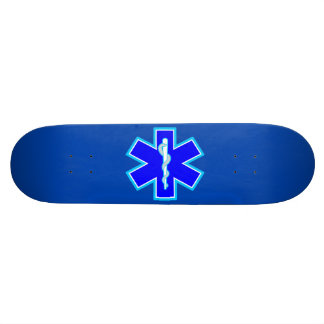 Star of Life Paramedic Emergency Medical Services Skate Board