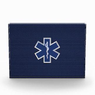 Star of Life Paramedic EMS on Blue Carbon Fiber Award
