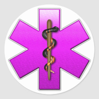 Star Of Life(pink) Classic Round Sticker