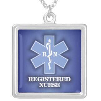Star of Life -Registered Nurse Silver Plated Necklace