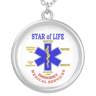 STAR of LIFE Round Pendant Necklace
