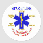 STAR of LIFE Round Stickers