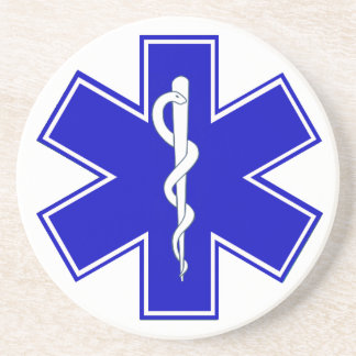 Star of Life Sandstone Coaster