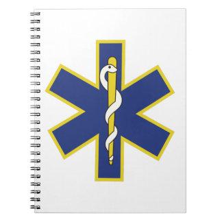 Star of Life Spiral Notebook