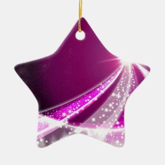 Star of Love Ceramic Ornament