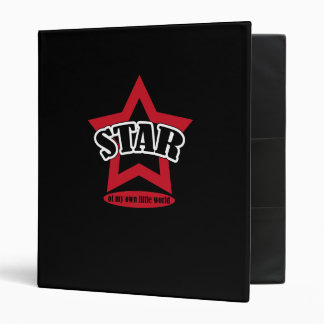 Star of my own little world 3 ring binder
