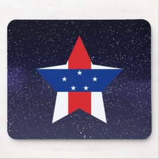Star of Netherlands Antilles Flag Mouse Pad