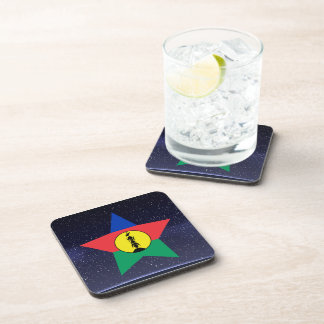 Star of New Caledonia Flag Beverage Coasters