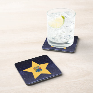 Star of New Jersey Flag Drink Coaster