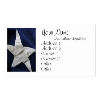 Star of Old Glory Business Cards