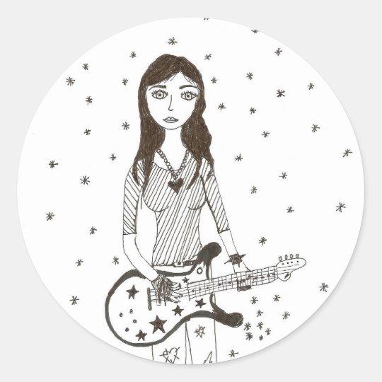 Star of Rock Classic Round Sticker