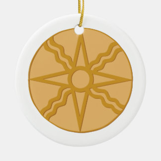 Star of Shamash Ceramic Ornament