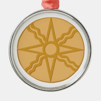 Star of Shamash Metal Ornament