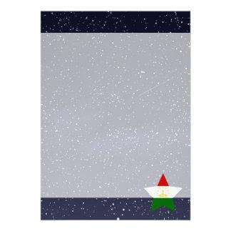 """Star of Tajikistan Flag 5"""" X 7"""" Invitation Card"""