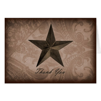 Star of Texas Thank You Card