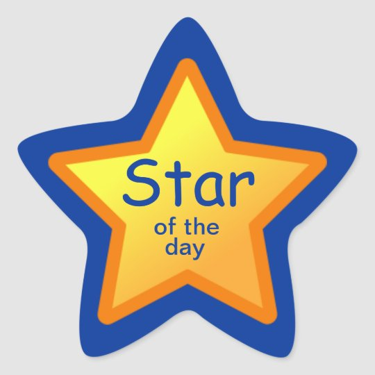Star of the Day Stickers for Students