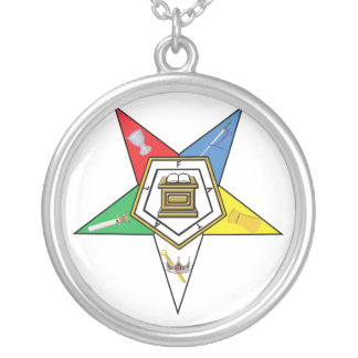 Star of the OES Round Pendant Necklace