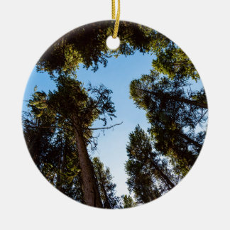 Star Of The Pine Tree Forest Ceramic Ornament