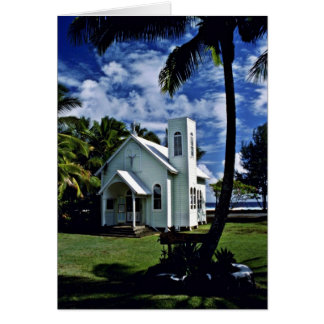 "Star Of The Sea """"Painted"""" Church - Kalapana, Haw Greeting Cards"