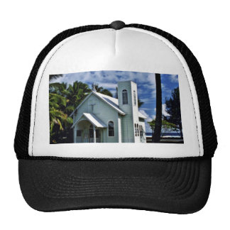 "Star Of The Sea """"Painted"""" Church - Kalapana, Haw Trucker Hat"