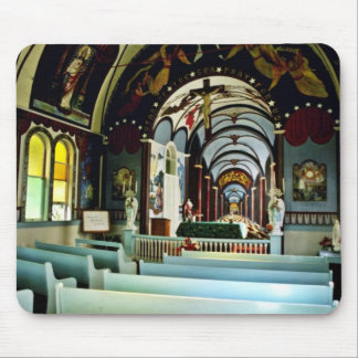 "Star Of The Sea """"Painted"""" Church - Kalapana, Haw Mouse Pad"