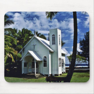 """Star Of The Sea """"""""Painted"""""""" Church - Kalapana, Haw Mouse Pad"""