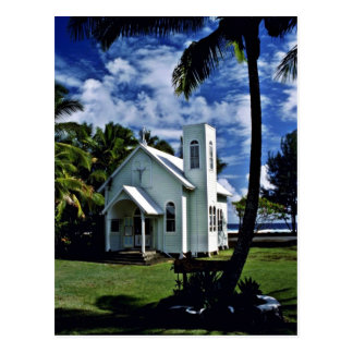 "Star Of The Sea """"Painted"""" Church - Kalapana, Haw Postcard"