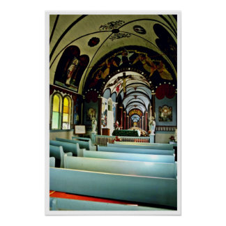 "Star Of The Sea """"Painted"""" Church - Kalapana, Haw Print"