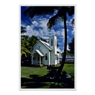 "Star Of The Sea """"Painted"""" Church - Kalapana, Haw Posters"