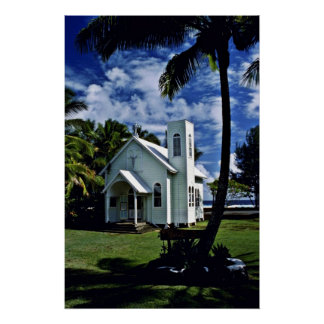 "Star Of The Sea """"Painted"""" Church - Kalapana, Haw Poster"