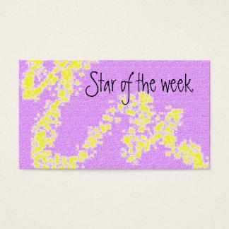 Star of the week reward card