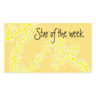 Star of the week reward card Double-Sided standard business cards (Pack of 100)