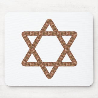Star of Tiles Star of David for Bar or Bat Mitzvah Mouse Pad