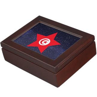 Star of Tunisia Flag Memory Boxes
