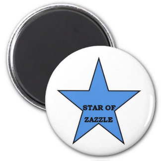 star of Zazzle 2 Inch Round Magnet