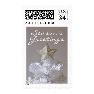Star on artificial Christmas tree Postage